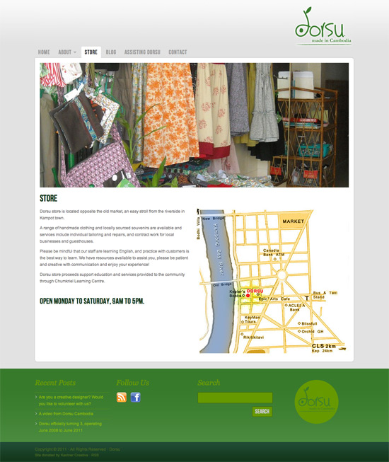 Dorsu Cambodia website