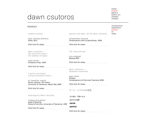Dawn Csutoros website