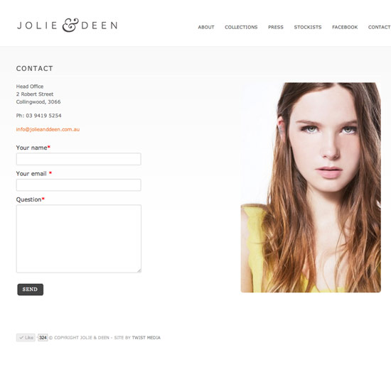 Jolie & Deen website