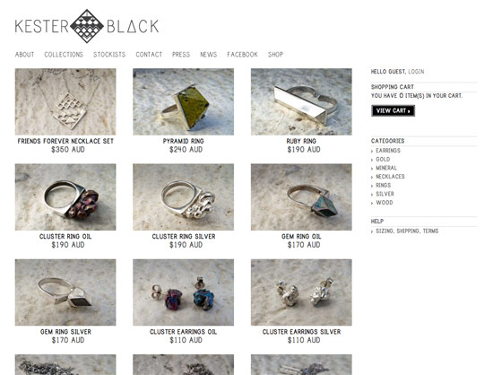 Kester Black website