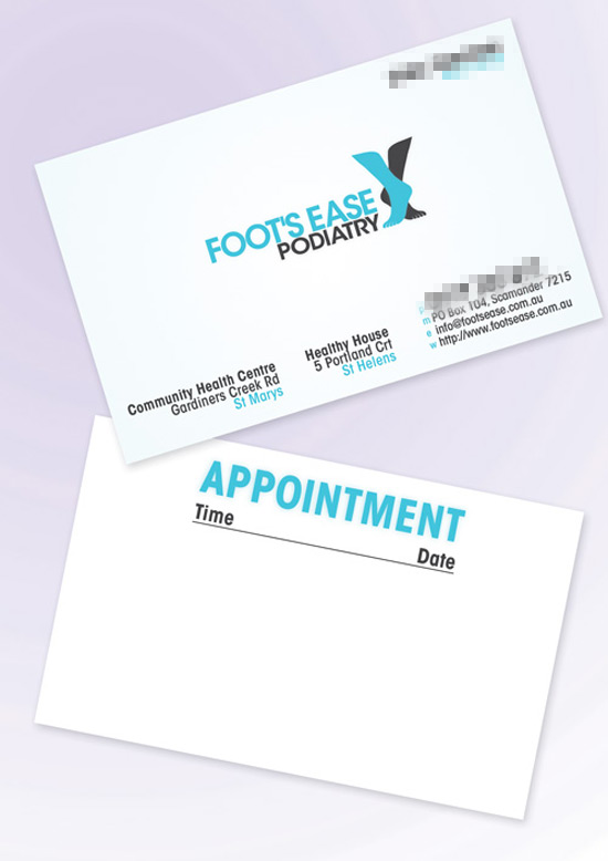 Foot's Ease Podiatry branding